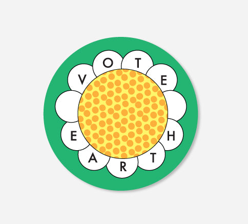 3 x 3 Vote Earth Sticker