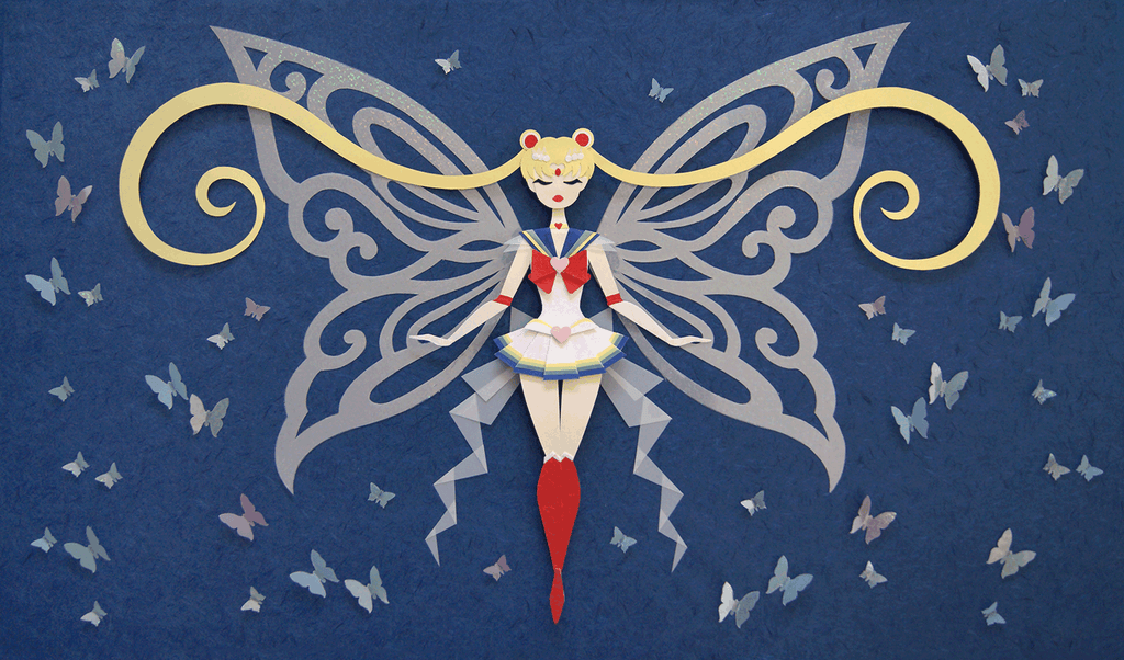 Super Sailor Moon Transformation by Nikkie Stinchcombe/Little Paper Forest