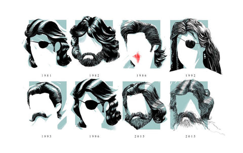 The Many Mullets of Kurt Russell by Chris Voy
