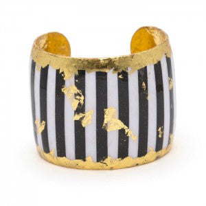 Black & White Striped Cuff
