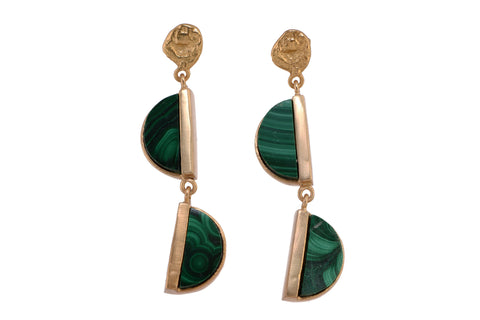 Balancing Act Malachite earrings
