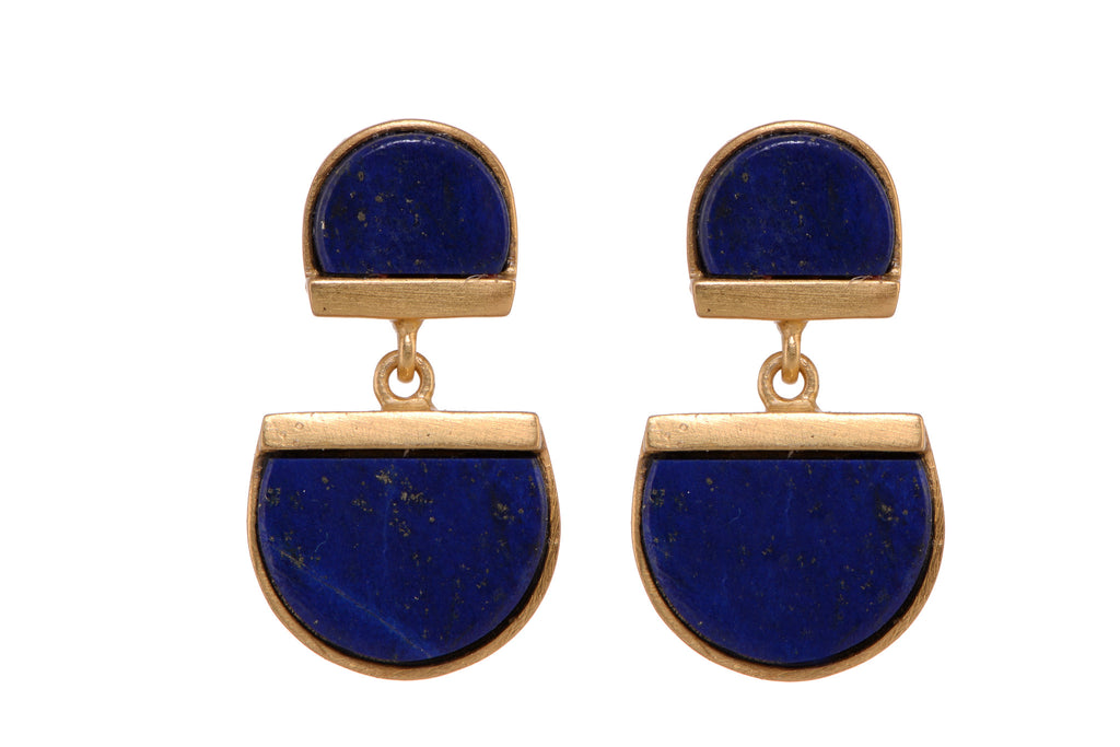 Biwitching Sisters Lapis lazuli earrings