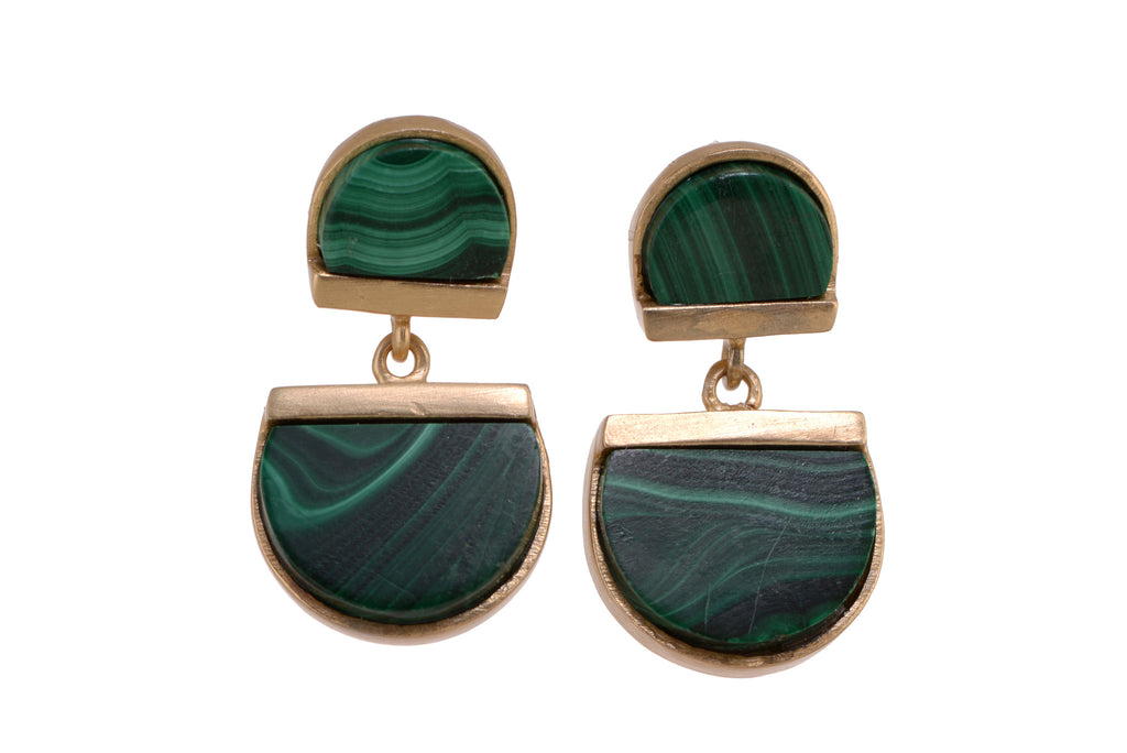Bewitching Sisters Malachite earrings