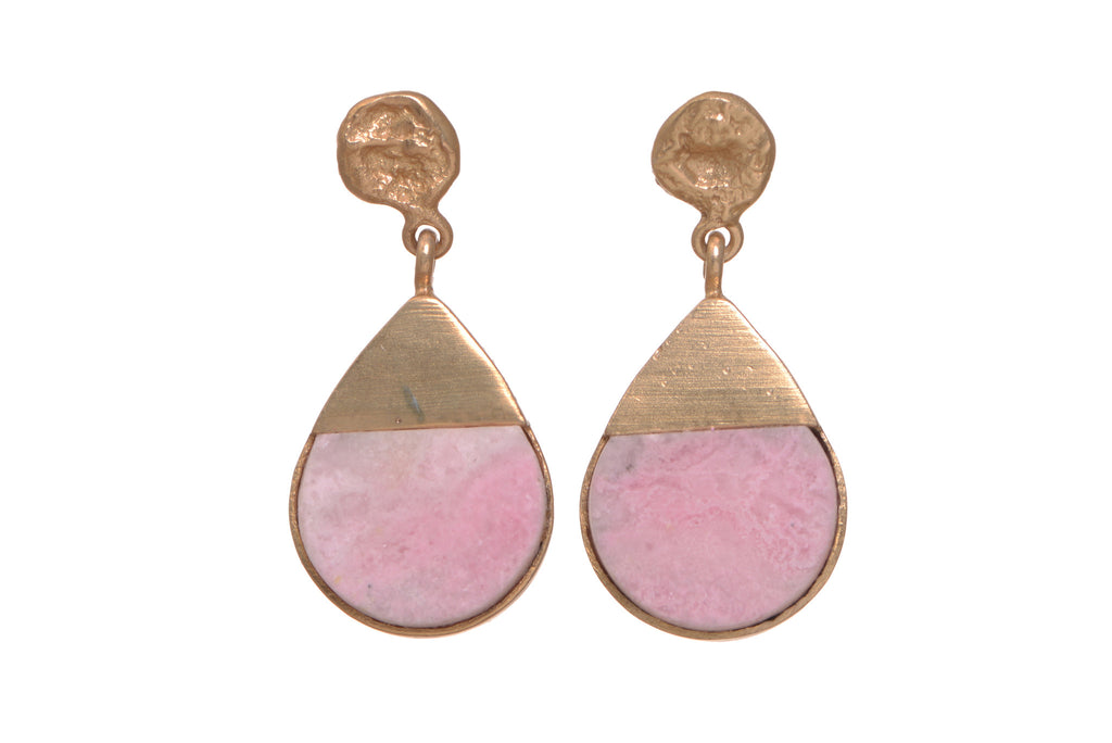Potent drop Rhodochrosite earrings
