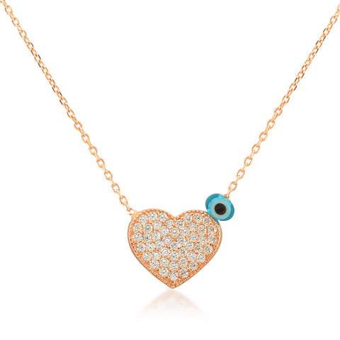 Big Heart Necklace in Rose Gold