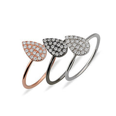 Drop Ring in Rose Gold Rhodium