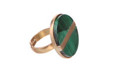 Confiscated glory Malachite ring