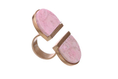 Magnetic Allure Rhodochrosite ring
