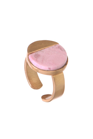 Modest grace Rhodochrosite ring
