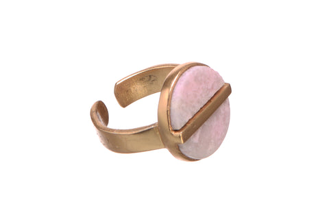 Pretty possessive Rhodochrosite ring