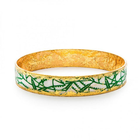 Green Bamboo Bangle