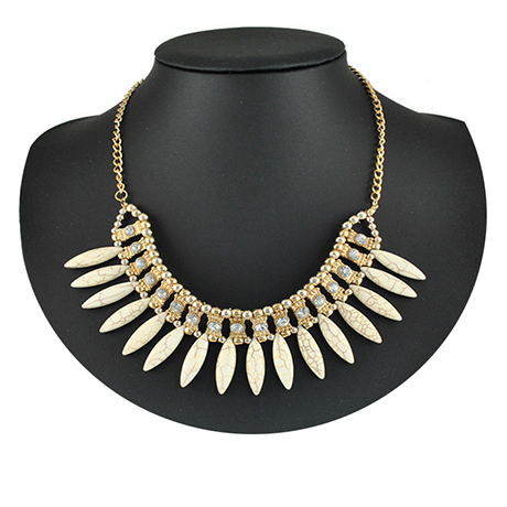 Bohemian Tassels Fringe Drop Statement Necklace