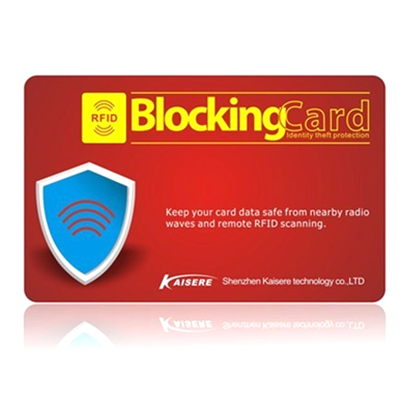 RFID Scan Blocking Card