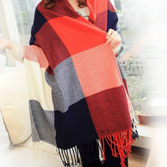 Plaid Style Wool Scarf and Shawl - Assorted Colors - BoardwalkBuy - 3
