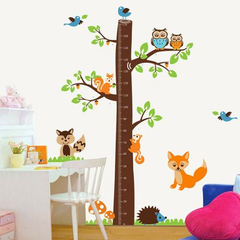 Wall Stickers Children's Room Height Squirrel Stickers