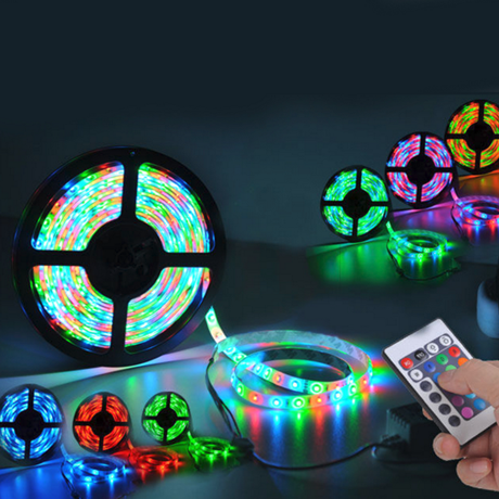 16 Feet 300 LED Waterproof RGB Light Strip With IR Remote Control