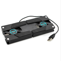 Portable USB Laptop Cooling Pad with Dual Fans - BoardwalkBuy - 2
