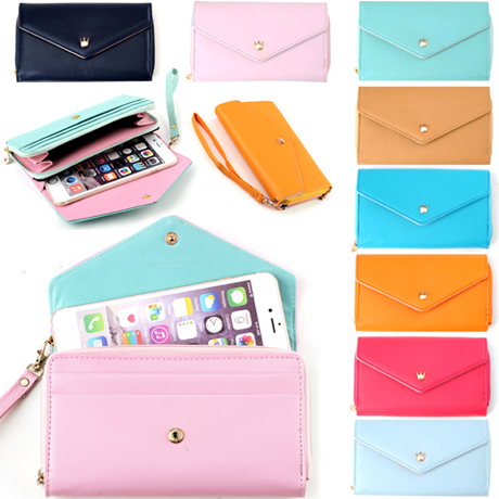 3-in-1 Stylish Smartphone Wallet, Purse & Wristlet - Assorted Colors - Compatible with all Phones