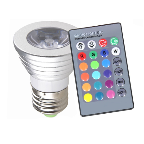 2 Pack: Magic Light Color-Changing LED Light Bulb with Remote Control
