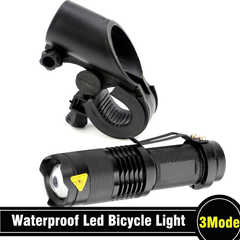 Waterproof Adjustable Focus Tactical LED Cycling Flashlight With Mount - BoardwalkBuy - 3