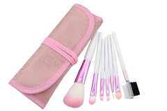 7 Piece Soft Pink Brush Set ,  - MyBrushSet, My Make-Up Brush Set  - 3