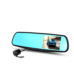 HD Dual Lens Front Car DVR and Rear view Camera