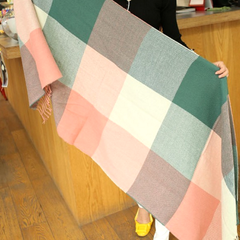Plaid Style Wool Scarf and Shawl - Assorted Colors - BoardwalkBuy - 9