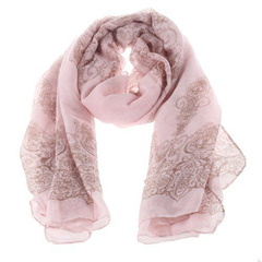Chiffon Porcelain Style Scarf and Shawl - Assorted Colors