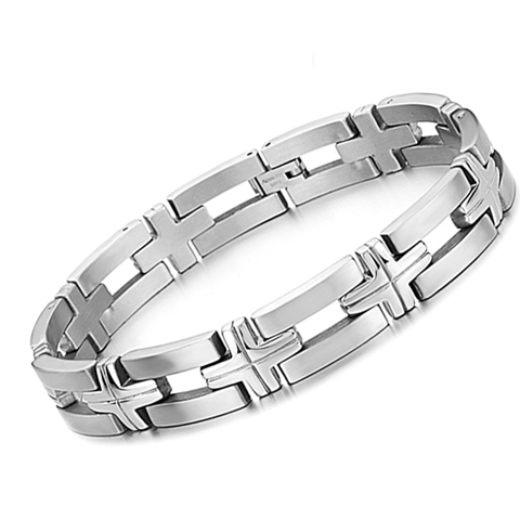 Silver Chain Stainless Steel Bracelet