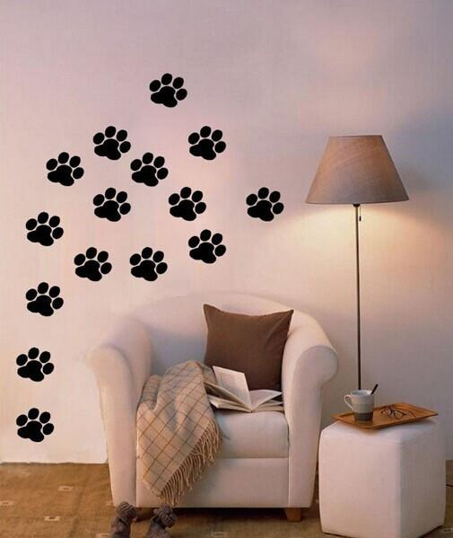 20 Pack: Paw Print Wall Stickers