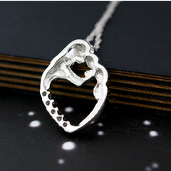 Mother Baby Love Heart Pendant