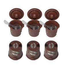 6 Pack: Reusable Single Brew Coffee Pods