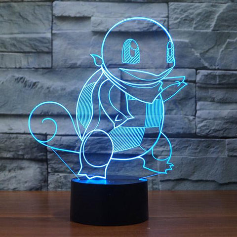 Squirtle Colorful 3D LED Lamp