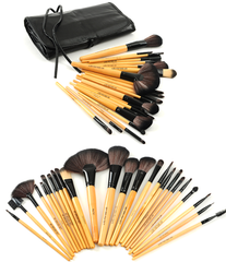 Premium Wood Brush Set with Free Case ,  - MyBrushSet, My Make-Up Brush Set  - 2