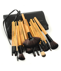 Premium Wood Brush Set with Free Case ,  - MyBrushSet, My Make-Up Brush Set  - 1