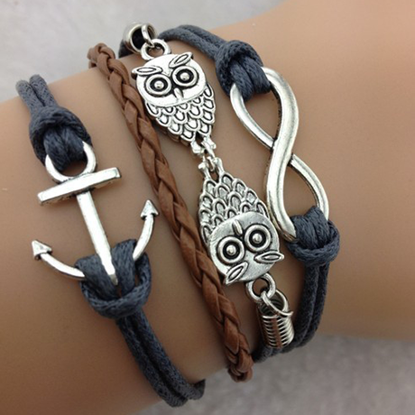 Double Owl Infinity Anchor