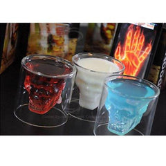 Creative Skull Design Crystal Transparent Glass Cup