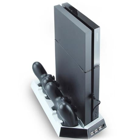Dual USB Fan Cooler Vertical Stand for Playstation 4