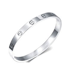 Sterling Silver Plated - Simplicity Bangle