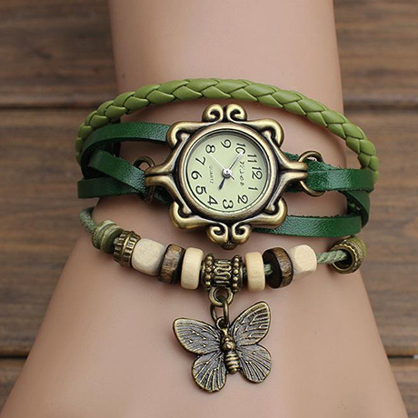 Retro Weave Women's Vintage Butterfly Watch
