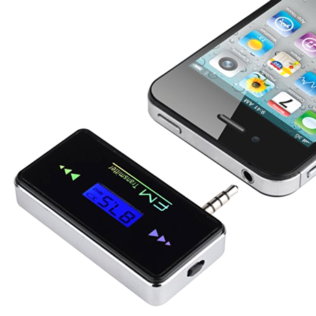 iphone and smartphone car stereo wireless fm transmitter. Black Bedroom Furniture Sets. Home Design Ideas