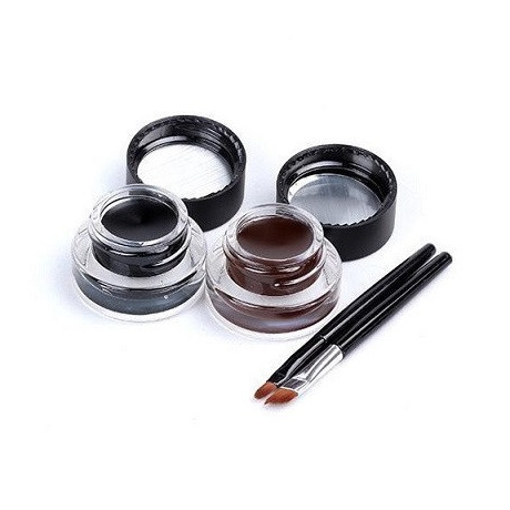 2-in-1 Brown + Black Gel Eyeliner