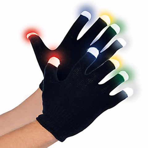 Multi Color LED Gloves
