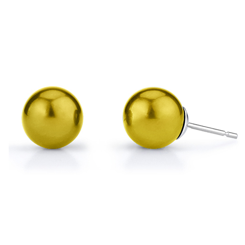 Sterling Silver 6mm Gold Ball Stud Earrings