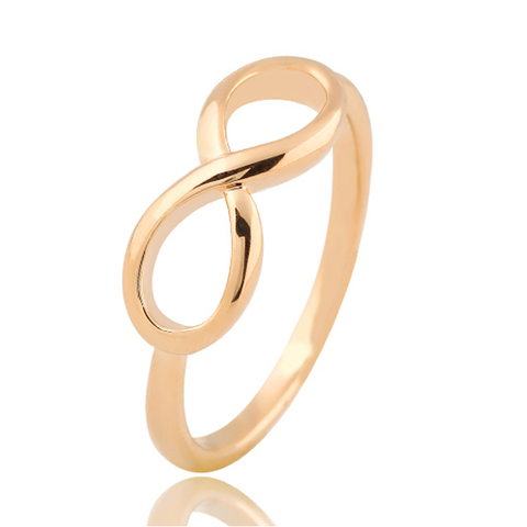 18k Gold Plated Infinity Ring