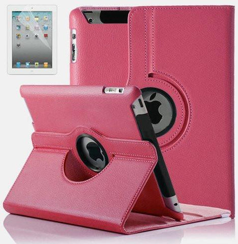 Leather iPad Case w/ 360° Swivel Stand