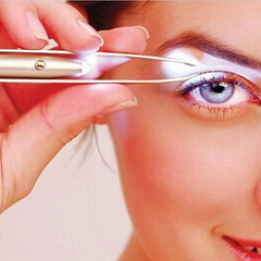 Led Light Eyelash Eyebrow Hair Removal Tweezer