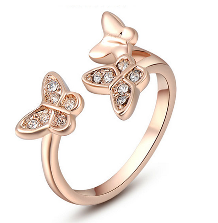 Butterfly Rose Gold Plated Ring