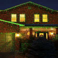 Waterproof Red and Green Projector Holiday Garden Lights
