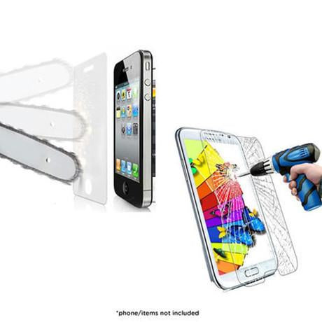 Shatter-Proof Tempered Glass Screen Protector for iPhone® 4/4s, 5/5s, S4, S5, S6, 6 & 6 Plus